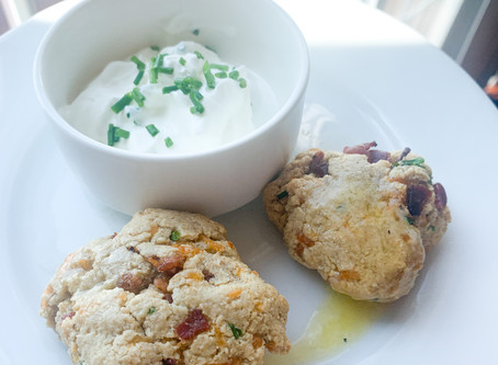 Lighter Bacon Cheddar Chive Biscuits