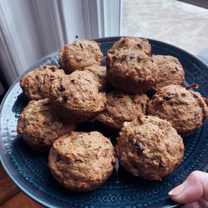 Banana Walnut Chocolate Chip Muffins