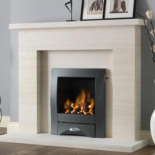 """PureGlow Drayton 50"""" Limestone fireplace suite"""
