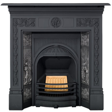 Stovax tiled combination fireplace