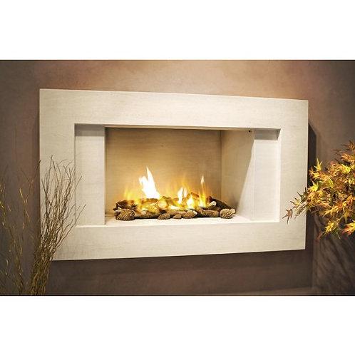 Morais Limestone Fireplace