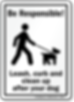 Responsible dog owner sign