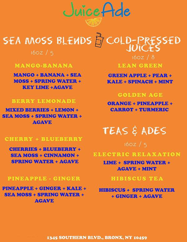 Juiceade Updated Sea Moss & Fresh Juice