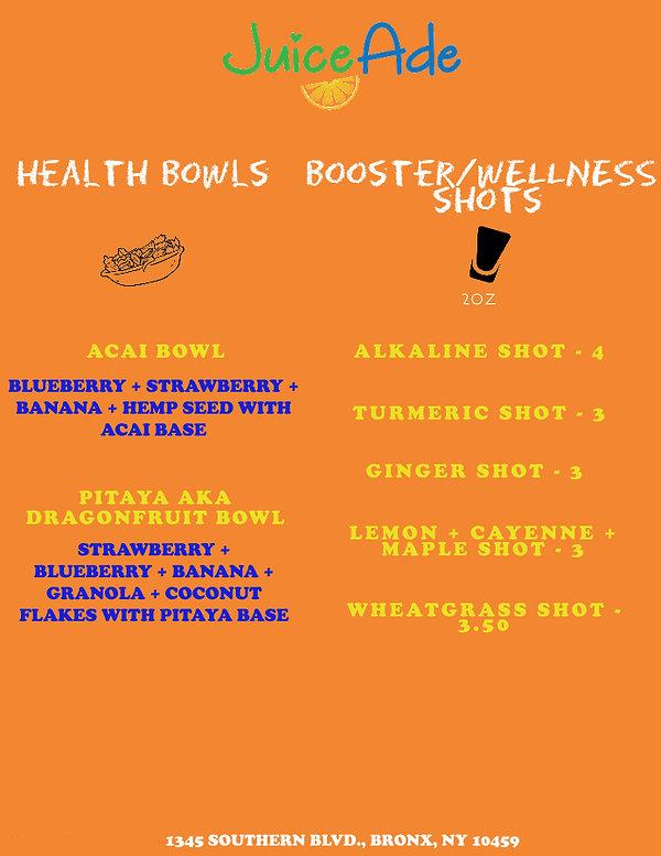 Juiceade Updated Health Bowl + Wellness