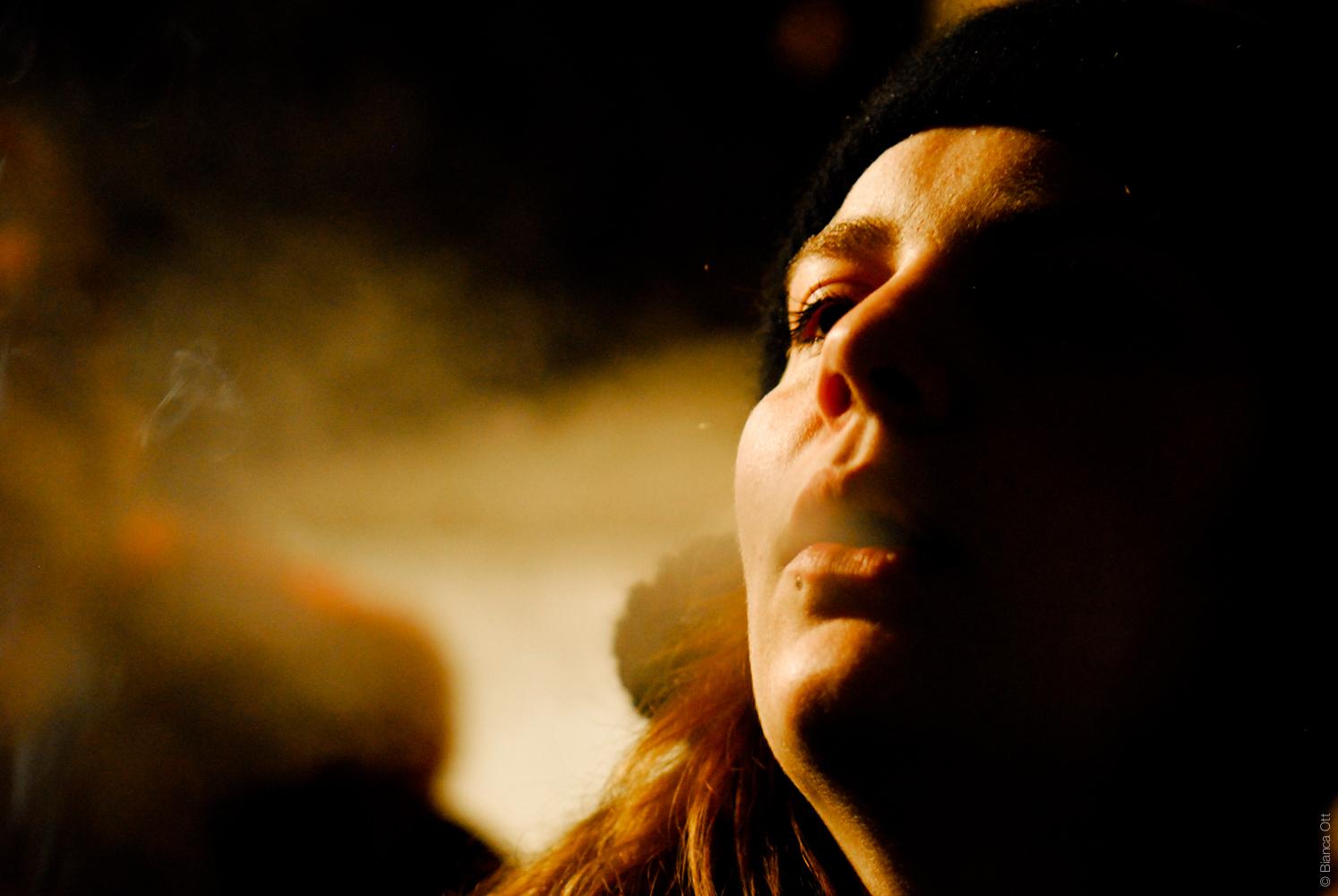 Eine Zigarette in Wien