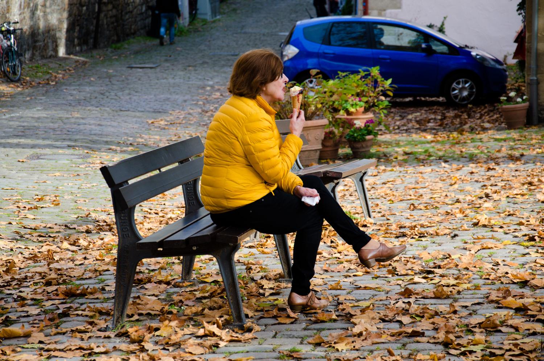 Eis essen in Tübingen