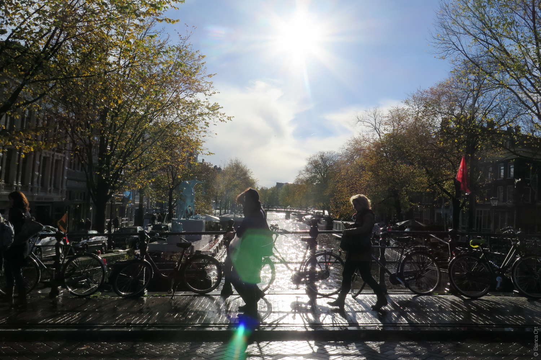 Fahrradfahrer in Amsterdam