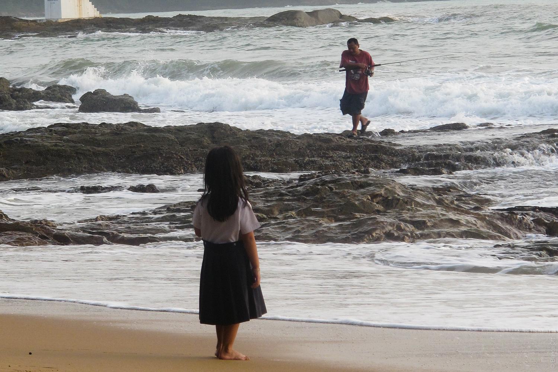 Fischer und Mädchen Khao Lak