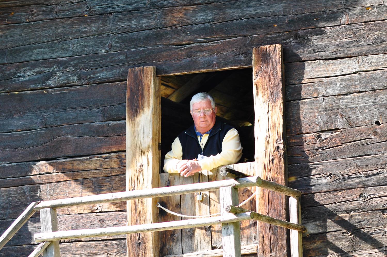 Mann am Fenster Ballenberg