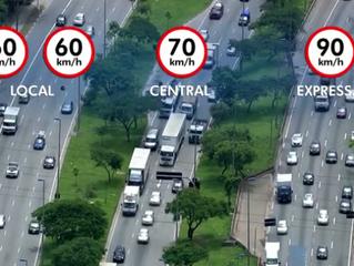 Velocidades máximas aumentam nas marginais Pinheiros e Tietê