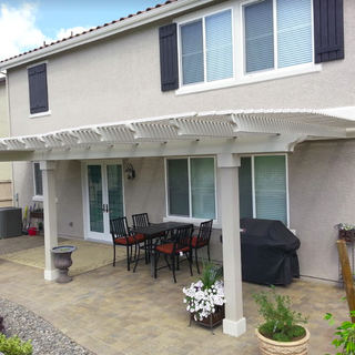 Aluminum Patio Cover with Large Columns