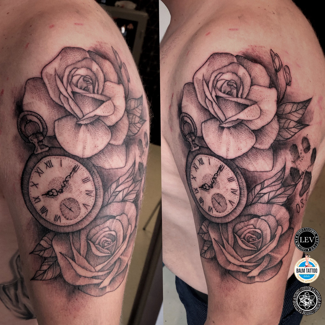 Clock and Roses