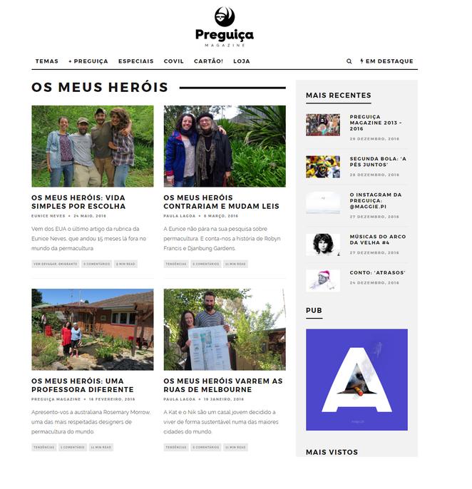 """""""OS MEUS HERÓIS"""" - Artigos Preguiça Magazine"""