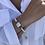 Thumbnail: H2277 - Pulseira Madrepérolas com Pedra Verde Mint Entre Madrepérola Quadrada