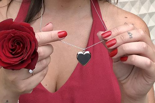 H2271 - Colar Relicário Coração Liso Sem Foto