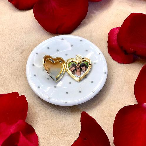 H2270 - Pingente Relicário Coração Liso Com Foto