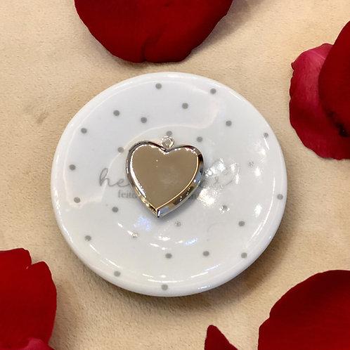 H2269 - Pingente Relicário Coração Liso Sem Foto