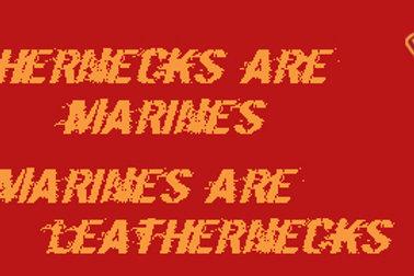 Leathernecks Bumper Sticker