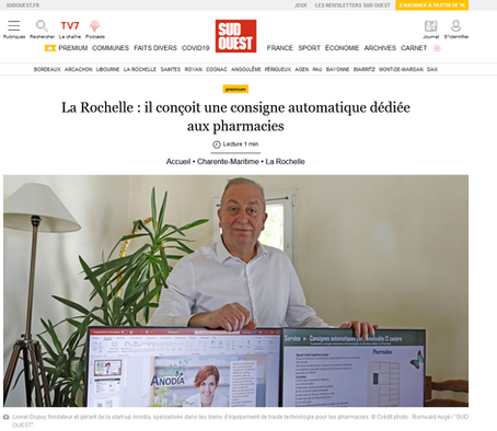 SUD OUEST - La Rochelle : il conçoit une consigne automatique dédiée aux pharmacies