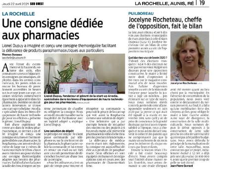 JOURNAL SUD OUEST - Une consigne dédiée aux pharmacies