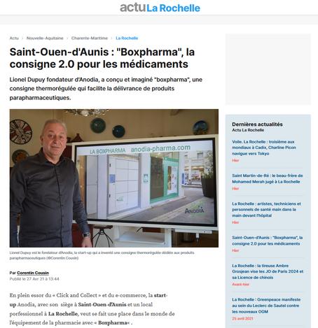 """ACTU.FR - Saint-Ouen-d'Aunis : """"Boxpharma"""", la consigne 2.0 pour les médicaments"""