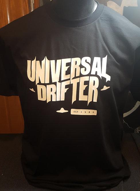 Universal Drifter -T-shirt (white/blck)
