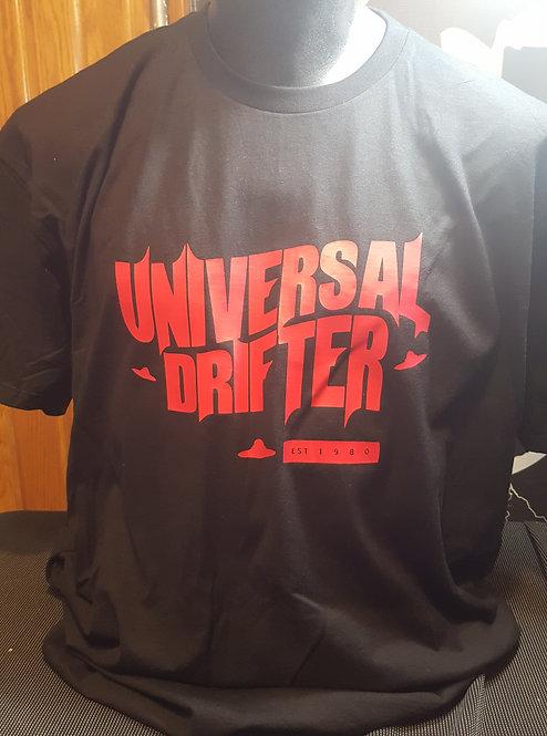 Universal Drifter -T-shirt (red/blck)
