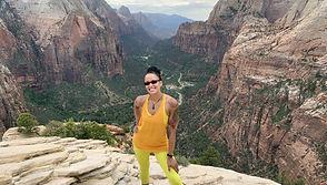 Nicole Snell Angels Landing utah zion mukuntuweap hiking solo outdoordefense