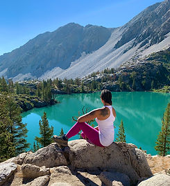 big pine first lake hiking solo outdoors nicole alpine lake
