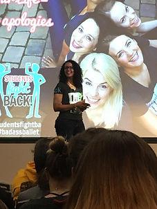 Nicole Speaking Smile Students FIght Back University of Redlands