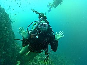 Nicole Snell scuba diving adventure