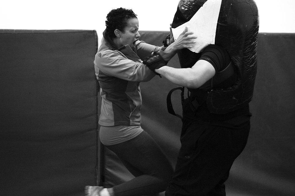 Nicole IMPACT self defense pink dahlia kick ass