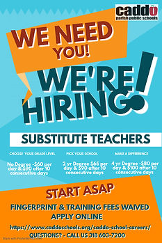 Hiring Substitutes Poster - Made with Po