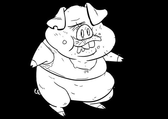 Pig hero's brother clean