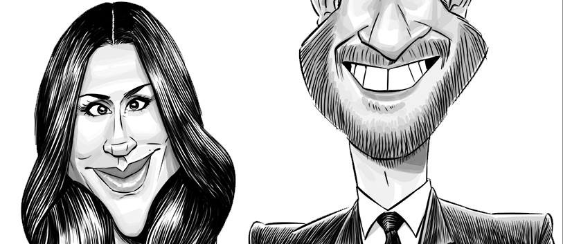 Harry & Meghan caricature