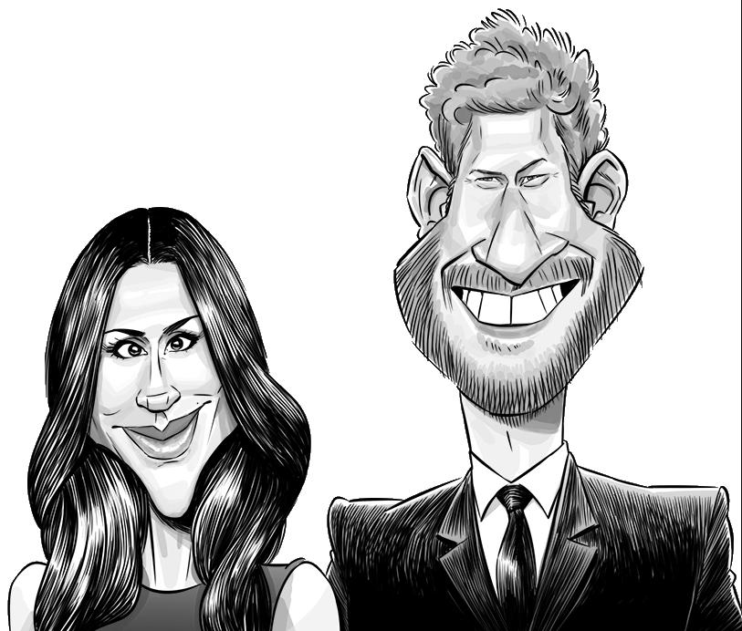 Harry & Meghan caricature