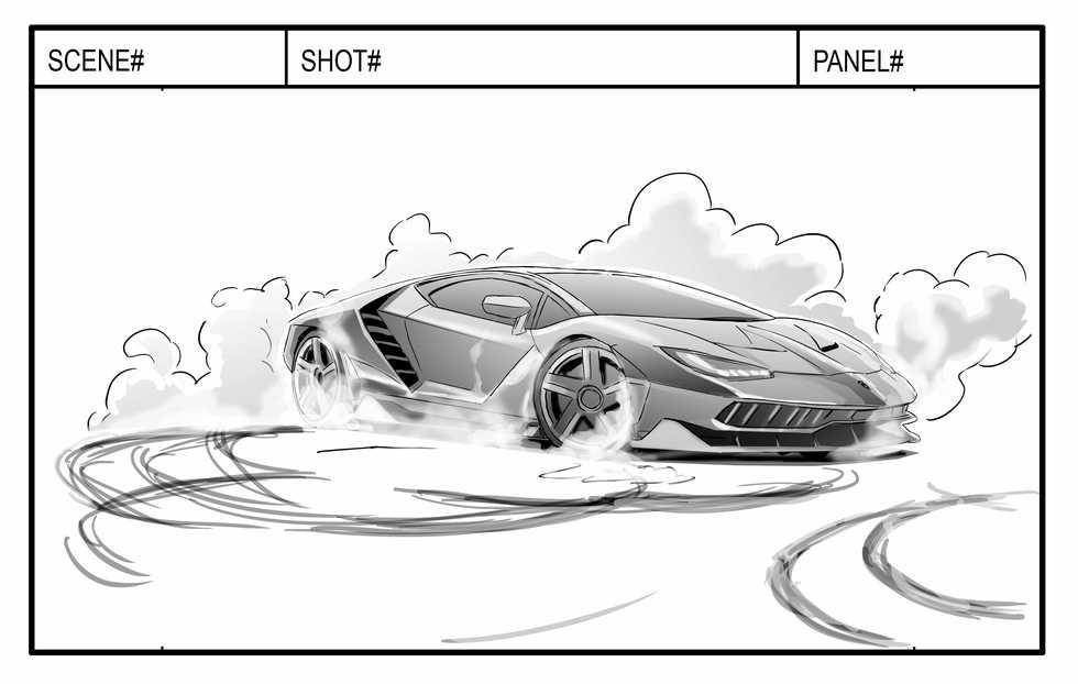 Lamborghini Storyboard