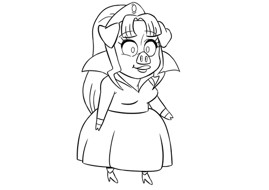 Pig princess clean