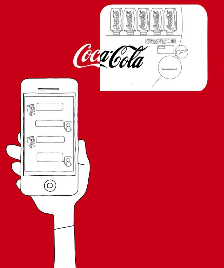 Coca-Cola-Japan phone messaging