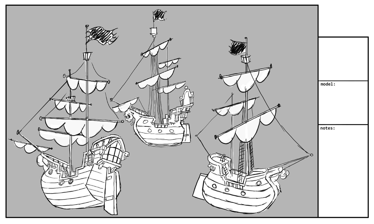 Pirate ship draft