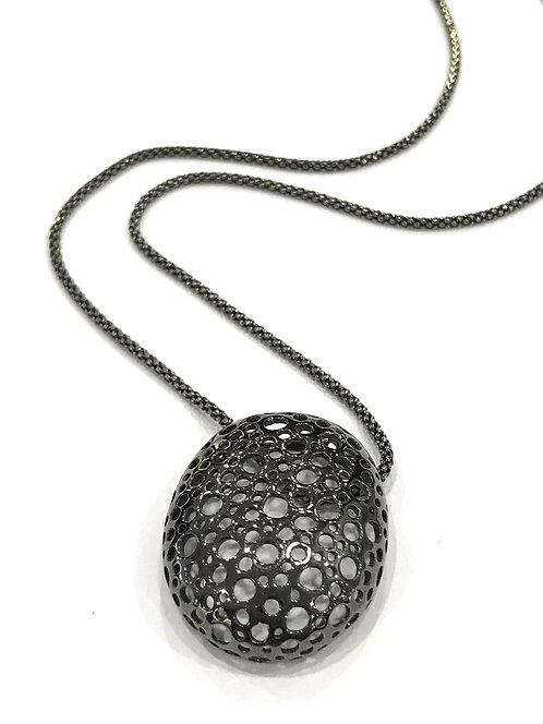 Enigma Sterling Silver & Black Rhodium Woven Necklace