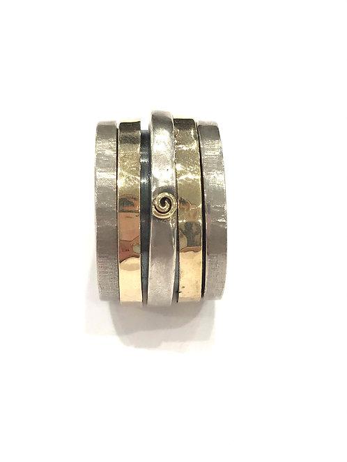 Yaron Morhaim Spinner Rolled Gold Dot Ring