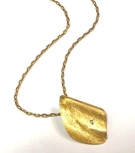 Origammi 14ct Yellow Gold Diamond Pendant