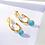 Thumbnail: Turquoise December Birthstone Hoop Earrings