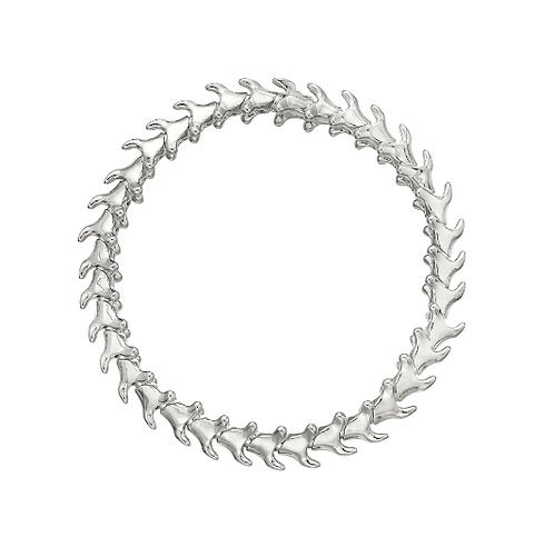 Silver Serpents Trace Slim Bracelet