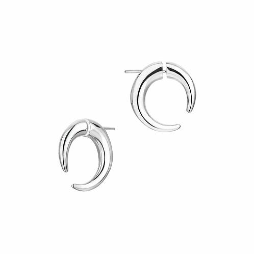 Shaun Leane Silver Small Hoop Talon Earrings