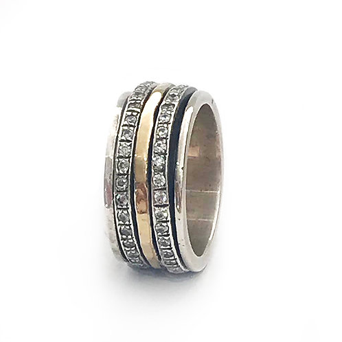 Yaron Morhaim Sparkle Silver & Rolled Gold Ring