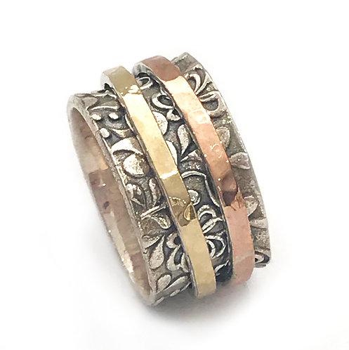 Yaron Morhaim Spinner Detailed Rose & Yellow Gold Ring