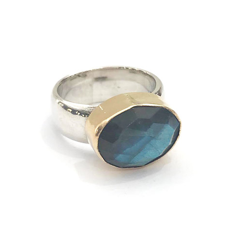Silver & Rolled Gold Cocktail Ring