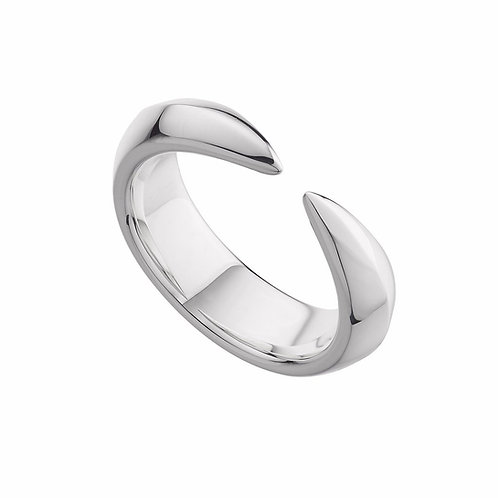 Mens Silver Arc Ring